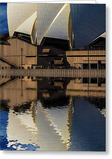 Sydney Opera House Abstract Greeting Card by Avalon Fine Art Photography