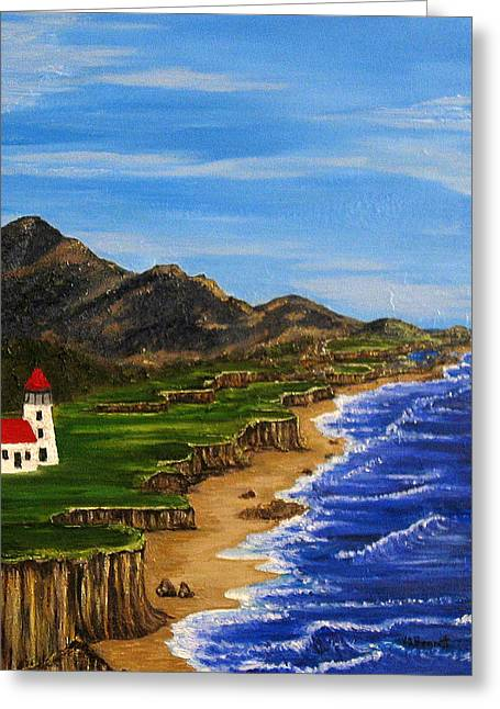Sylvia's Seascape Greeting Card
