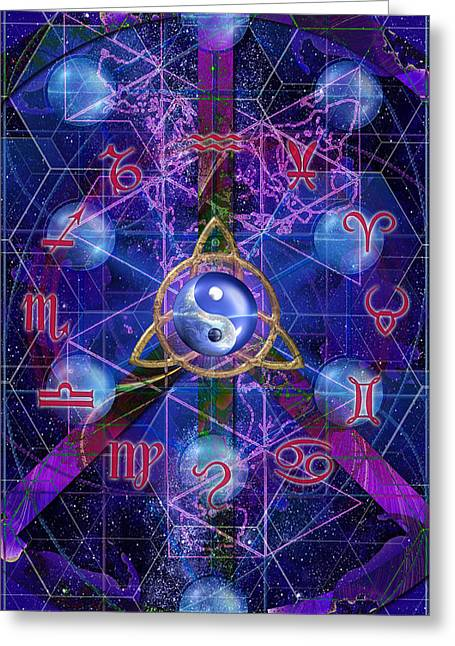 Greeting Card featuring the digital art Symagery 35 by Kenneth Armand Johnson