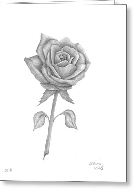 Greeting Card featuring the drawing Symbol Of Love by Patricia Hiltz