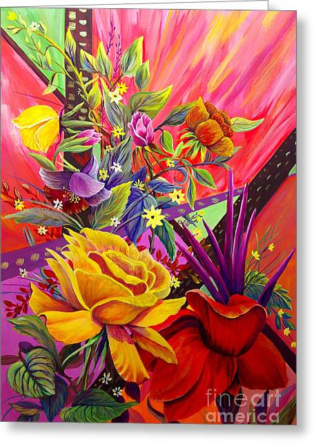 Greeting Card featuring the painting Symphony by Nancy Cupp