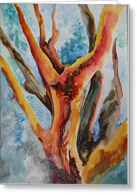 Symphony Of Branches Greeting Card by Mary Wykes