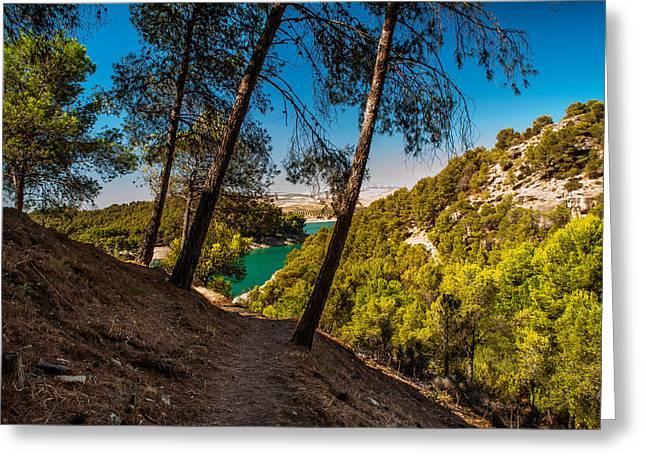 Symphony Of Nature. El Chorro. Spain Greeting Card by Jenny Rainbow