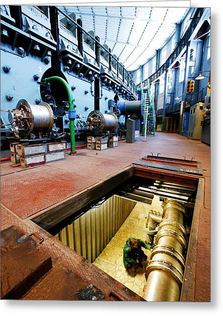 Synchrotron Particle Accelerator Greeting Card by Ria Novosti