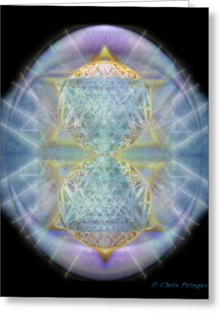 Synthecentered Chalice In Ovoid On Black Greeting Card