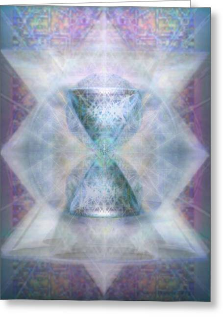 Synthesphered Chalice 'fifouray' On Tapestry Greeting Card by Christopher Pringer