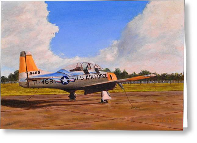 T 28 At Spence Ab Georgia Greeting Card