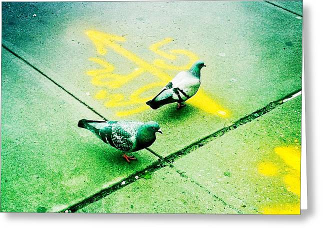 T-squared Doves Greeting Card