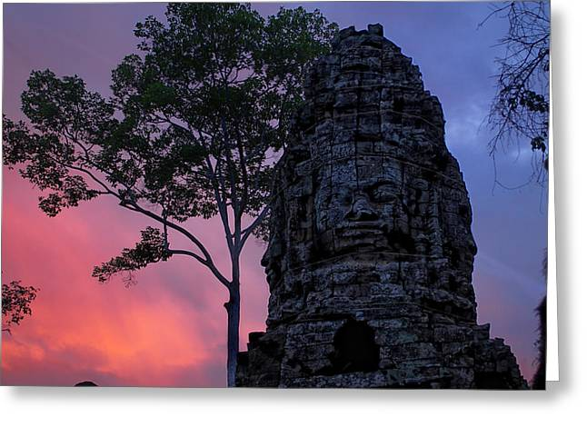 Ta Phrom Greeting Card by Dominic Guiver