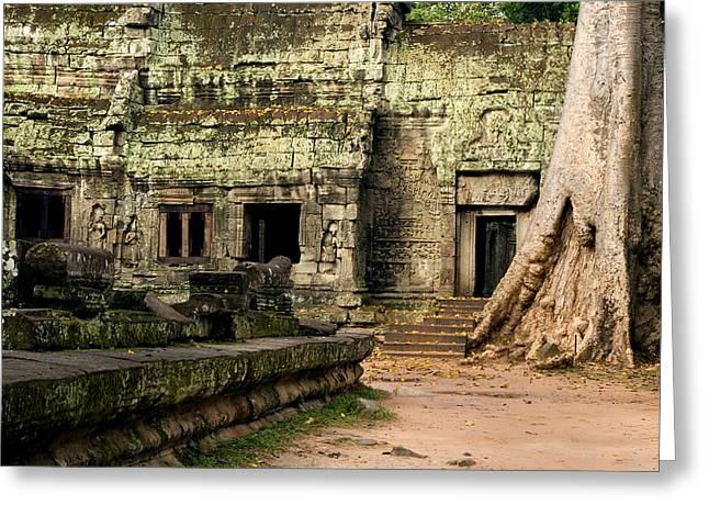 Ta Prohm Temple In Cambodia Greeting Card