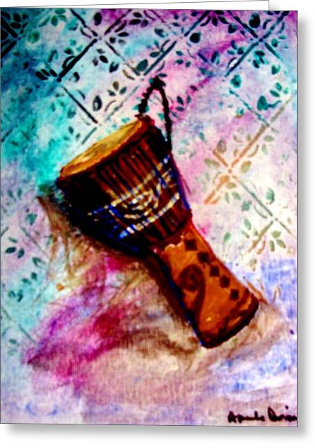 Greeting Card featuring the painting Tabla 2 by Amanda Dinan