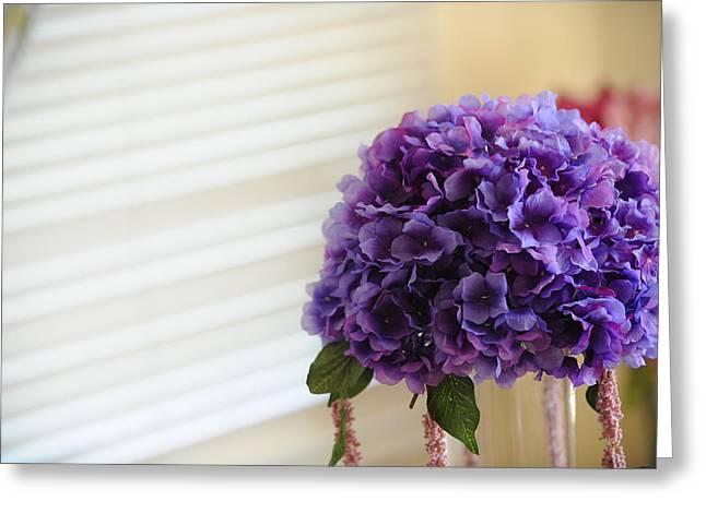 Tabletop Bloom Greeting Card by Brandon McNabb