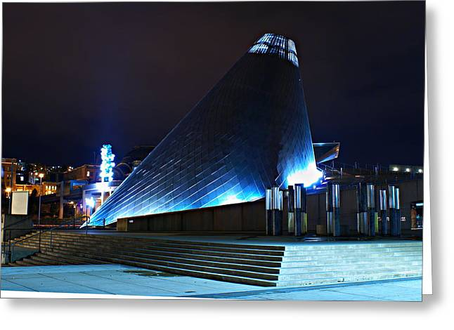 Tacoma Museum Of Glass At Night 1 Greeting Card