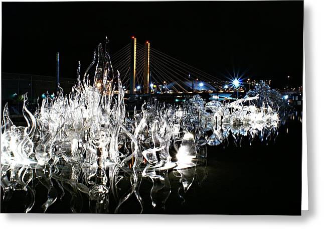Tacoma Museum Of Glass Outdoor Sculpture Greeting Card