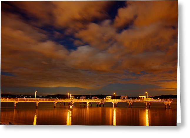 Tacoma Waterfront Greeting Card by Robby Green