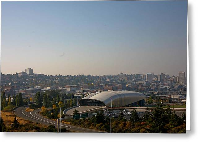 Tacoma's Grand Entrance Greeting Card by Robby Green