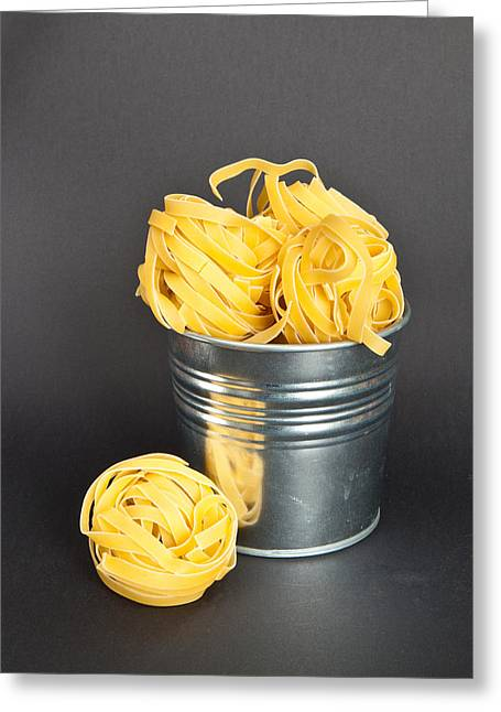 Tagliatelle Greeting Card by Tom Gowanlock