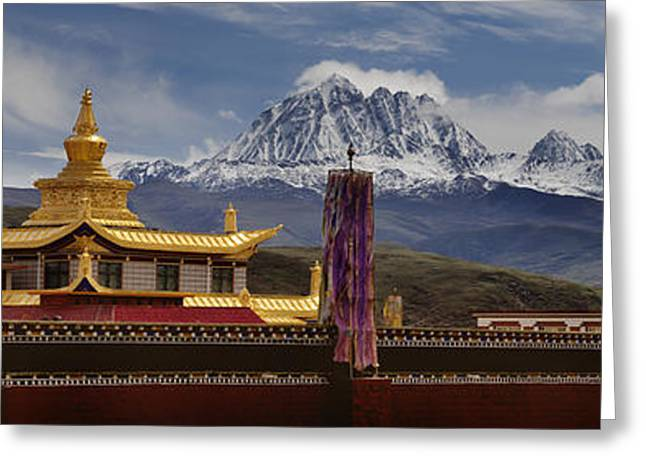 Tagong Si Monastery Buddhist Temple Greeting Card by Phil Borges