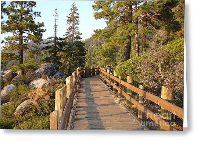 Tahoe Bridge Greeting Card by Silvie Kendall