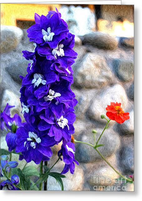 Greeting Card featuring the photograph Tahoe City Flower by Anne Raczkowski