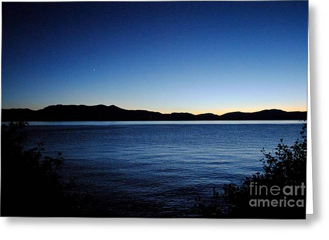 Tahoe Sunset  Greeting Card by Sean McGuire