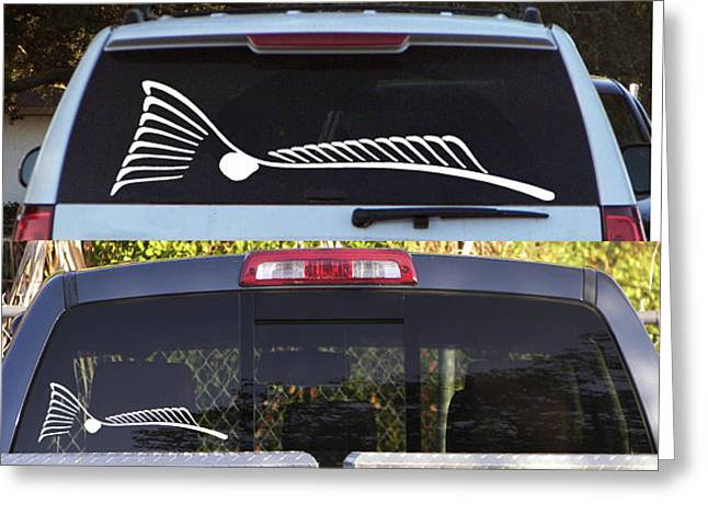 Tailing Redfish Window Decal  To Order Please Go To Www.kevinbrant.com Greeting Card by Kevin Brant