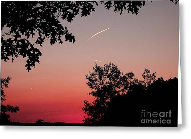 Greeting Card featuring the photograph Tails Of Light At Sunset by Christian Mattison