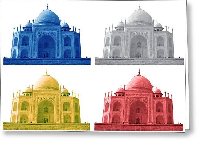 Taj Mahal Colorful Style Greeting Card by Atthamee Ni