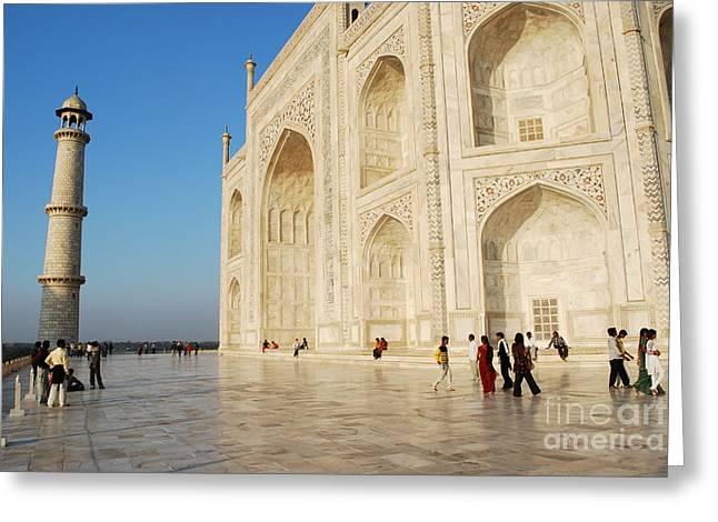 Taj Mahal Greeting Card by Jen Bodendorfer
