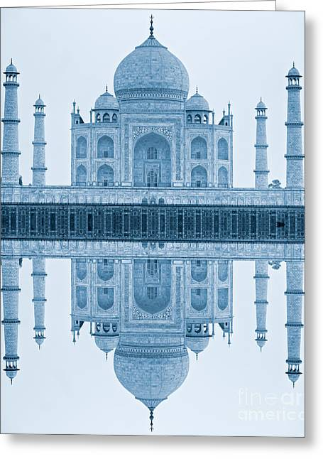 Greeting Card featuring the photograph Taj Mahal by Luciano Mortula