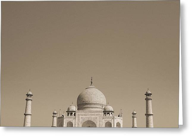 Taj Mahal Greeting Card by Mostafa Moftah