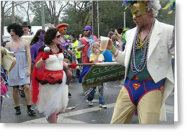 Take Me To The Mardi Gras Greeting Card by Rdr Creative