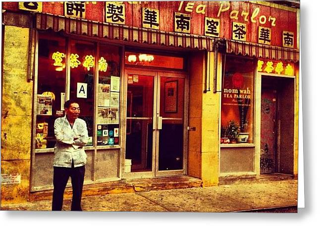 Taking A Break In Chinatown Greeting Card