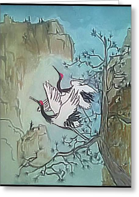 Greeting Card featuring the painting Taking Flight by Alethea McKee