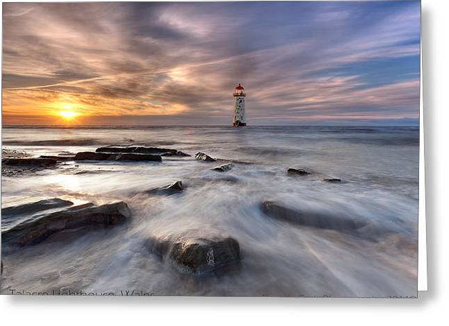 Talacre Lighthouse  Greeting Card by Beverly Cash