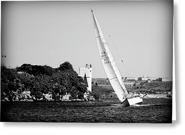 Greeting Card featuring the photograph Tall Ship Race 1 by Pedro Cardona