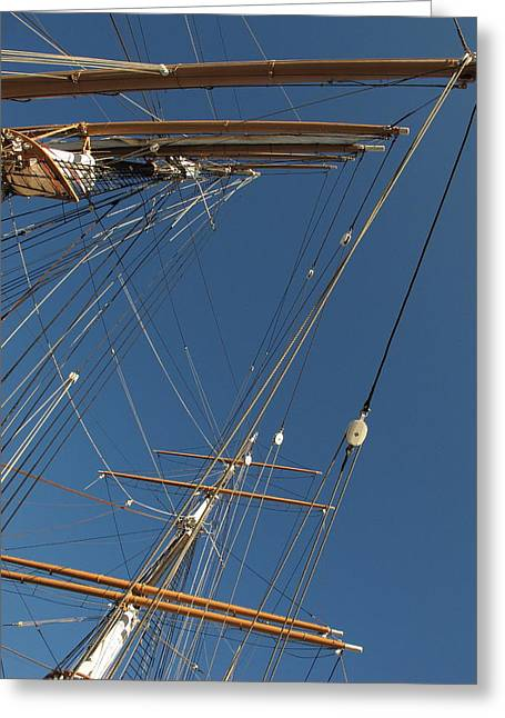 Tall Ship Rigging 1 Greeting Card by Winston  Wetteland
