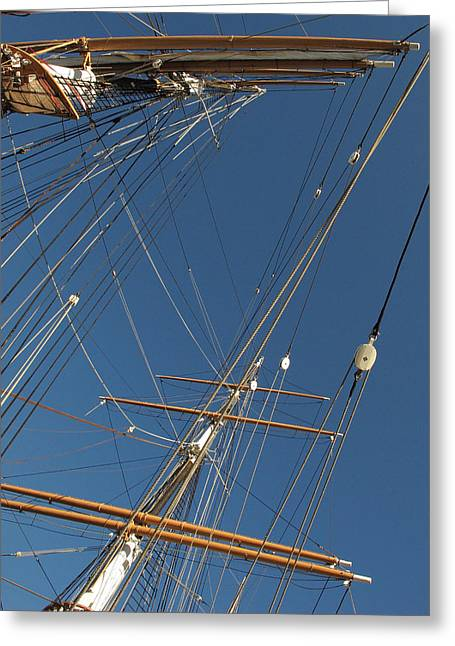 Tall Ship Rigging 2 Greeting Card by Winston  Wetteland
