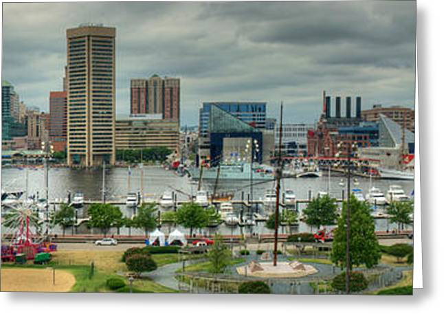 Tall Ships At Baltimore Inner Harbor Greeting Card