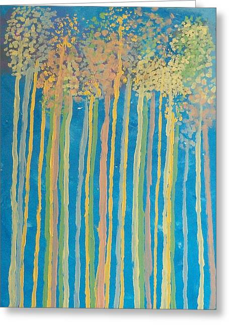 Tall Trees Greeting Card by Helene Henderson