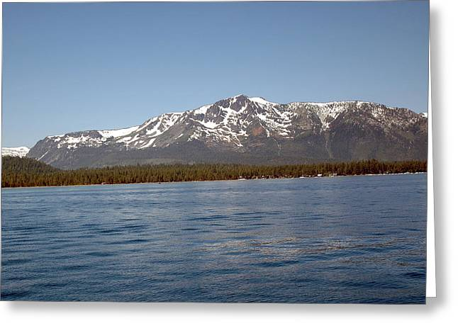 Tallac From The Lake Greeting Card by LeeAnn McLaneGoetz McLaneGoetzStudioLLCcom