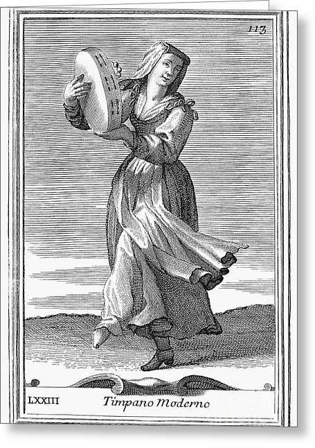 Tambourine, 1723 Greeting Card