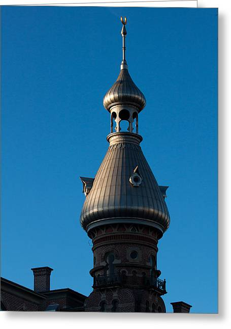 Greeting Card featuring the photograph Tampa Bay Hotel Minaret by Ed Gleichman