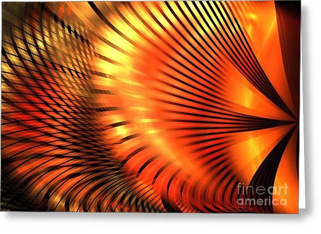 Tangerine Greeting Card by Kim Sy Ok