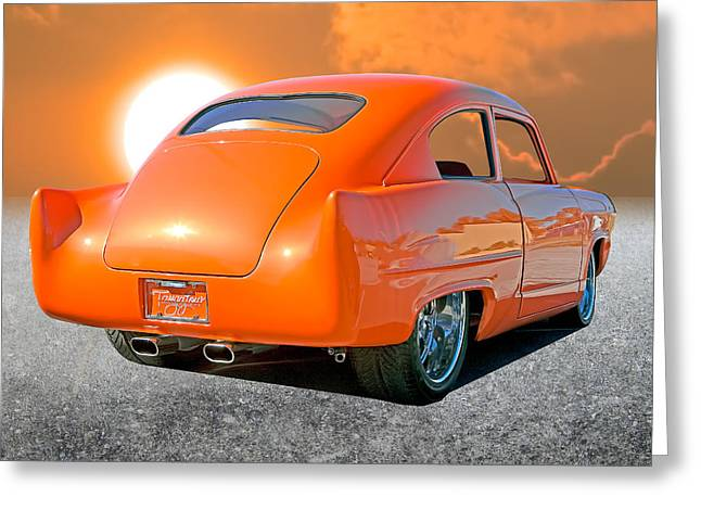 Tangerine Sunset Greeting Card by Stephen Warren