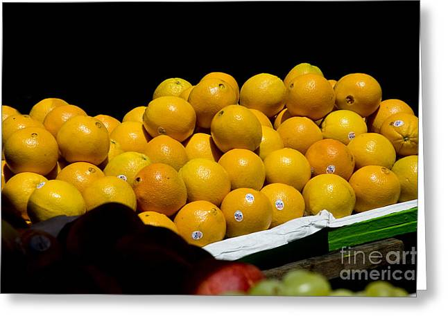 Tangerines For Sale Greeting Card by Tim Mulina