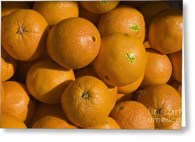 Tangerines Greeting Card by Tim Mulina