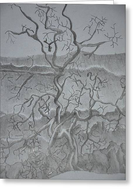 Tangled Tree Of A Lonely Mind Greeting Card