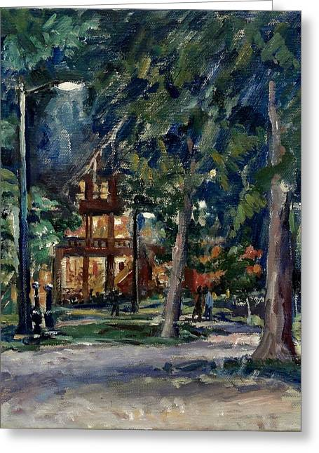 Tanglewood Nocturne Greeting Card by Thor Wickstrom