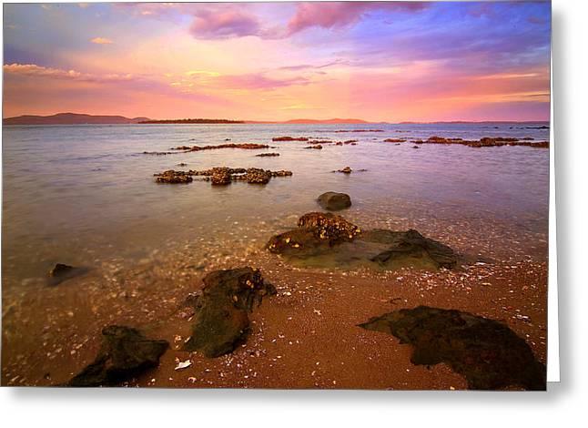 Tanilba Bay Sunset Greeting Card